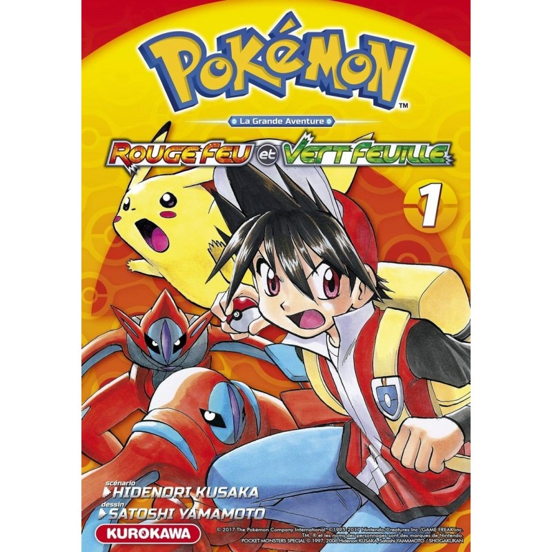 POKEMON ROUGE FEU VERT FEUILLE EMERAUDE T01 - Manga au prix de 10,00€