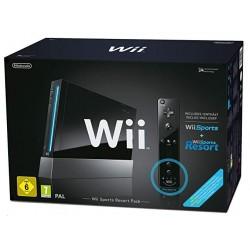 CONSOLE WII NOIRE SPORT PACK RESORT - Consoles Wii au prix de 59,95€