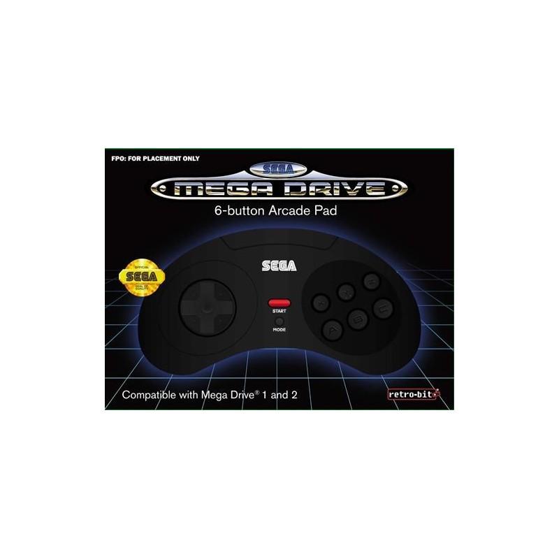 MANETTE MEGA DRIVE 6 BOUTONS - ARCADE PAD - Accessoires Mega Drive au prix de 19,95€