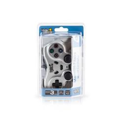 MANETTE FILAIRE PS2 SILVER 2M UNDERCONTROL - Accessoires PS2 au prix de 9,95€