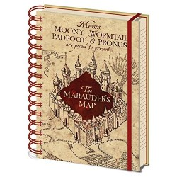 NOTEBOOK HARRY POTTER A5 CARTE DU MARAUDER - Papeterie au prix de 6,95 €