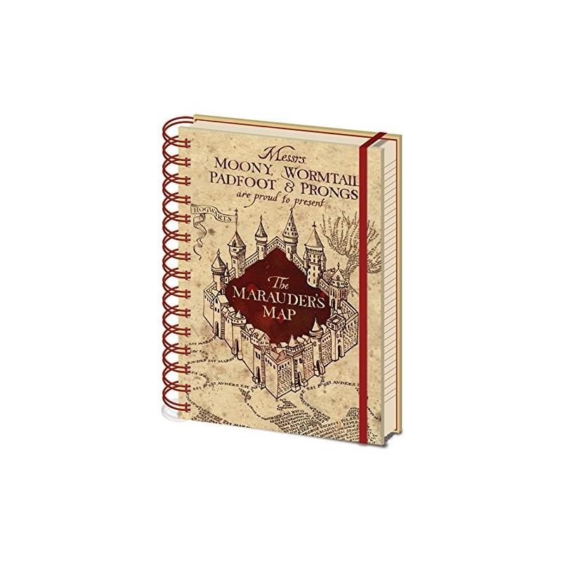 NOTEBOOK HARRY POTTER A5 CARTE DU MARAUDER - Papeterie au prix de 6,95€