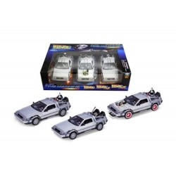 FIGURINE RETOUR VERS LE FUTUR DELOREAN TIME MACHINE TRILOGY PACK 124 ( BACK TO THE FUTURE) - Figurines au prix de 69,95 €