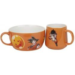 SET PETIT DEJEUNER DBZ GOKU - Mugs au prix de 19,95€