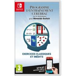 SWITCH PROGRAMME D ENTRAINEMENT CEREBRAL DU DR KAWASHIMA - Jeux Switch au prix de 39,95€