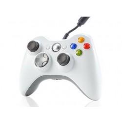 MANETTE FILAIRE XBOX 360 BLANCHE - Accessoires Xbox 360 au prix de 14,95€