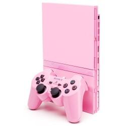 CONSOLE PS2 SLIM ROSE PACK 2 MANETTES + CARTE MEMOIRE - Consoles PS2 au prix de 74,95€