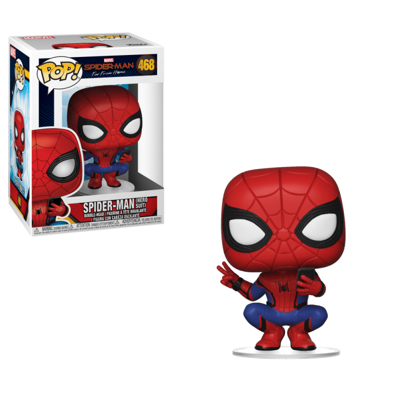 POP MARVEL SPIDERMAN 468 SPIDER-MAN HERO SUIT - Figurines POP au prix de 14,95€