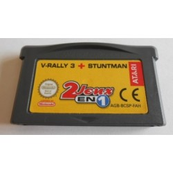 GA 2 JEUX EN 1: V-RALLY 3 + STUNTMAN (LOOSE) - Jeux Game Boy Advance au prix de 3,95 €