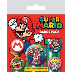 NINTENDO SUPER MARIO PACK 5 BADGES - Autres Goodies au prix de 4,95 €