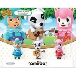 AMIIBO PACK ANIMAL CROSSING SERGE KEKE RISETTE - Figurines NFC au prix de 29,95€