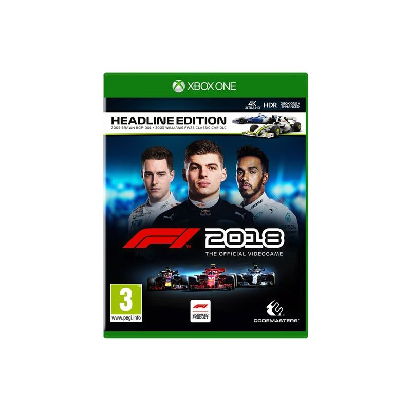XONE F1 2018 HEADLINE EDITION OCC - Jeux Xbox One au prix de 14,95€