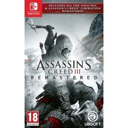 SWITCH ASSASSINS CREED 3 REMASTERED - Jeux Switch au prix de 39,95€