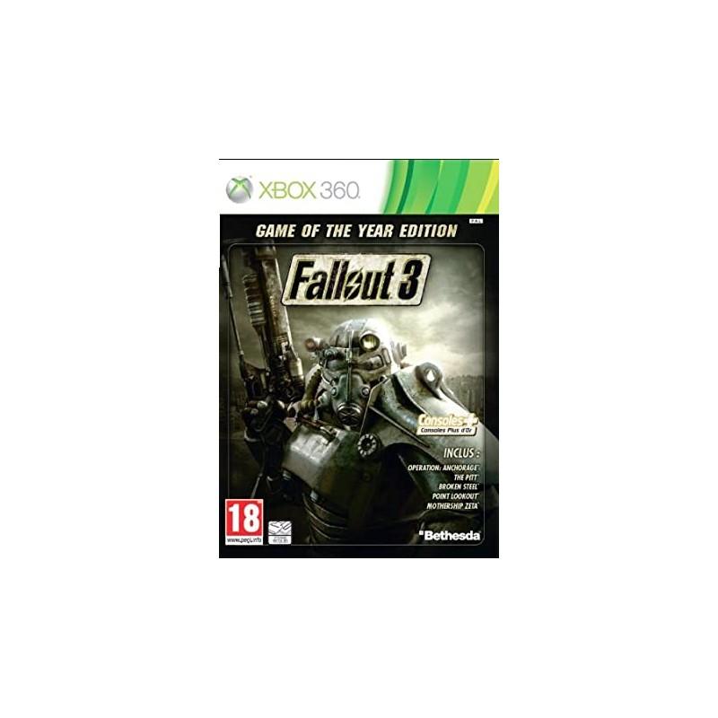 X360 FALLOUT 3 EDITION DE L ANNEE - Jeux Xbox 360 au prix de 7,95€