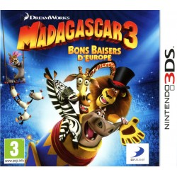 3DS MADAGASCAR 3 BONS BAISERS D EUROPE - Jeux 3DS au prix de 34,95€