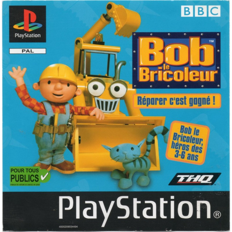 PSX BOB LE BRICOLEUR - Jeux PS1 au prix de 4,95€