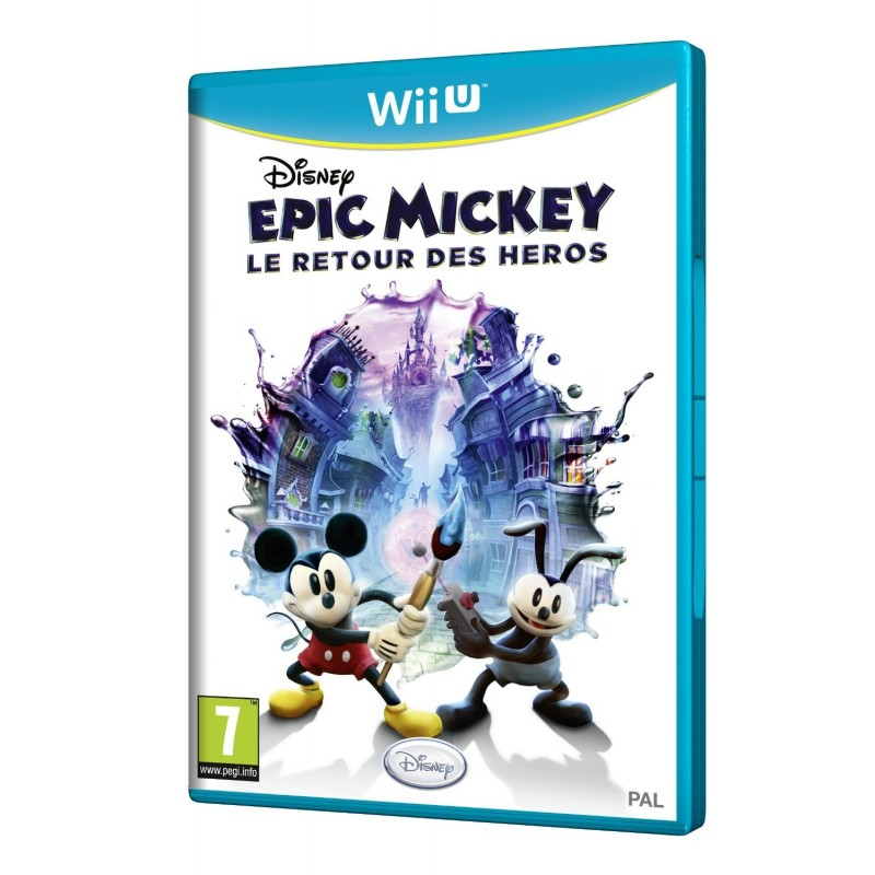 WIU EPIC MICKEY LE RETOUR DES HEROS - Jeux Wii U au prix de 19,95€