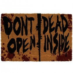 PAILLASSON WALKING DEAD DON T OPEN DEAD INSIDE 40X60 - Autres Goodies au prix de 24,95 €