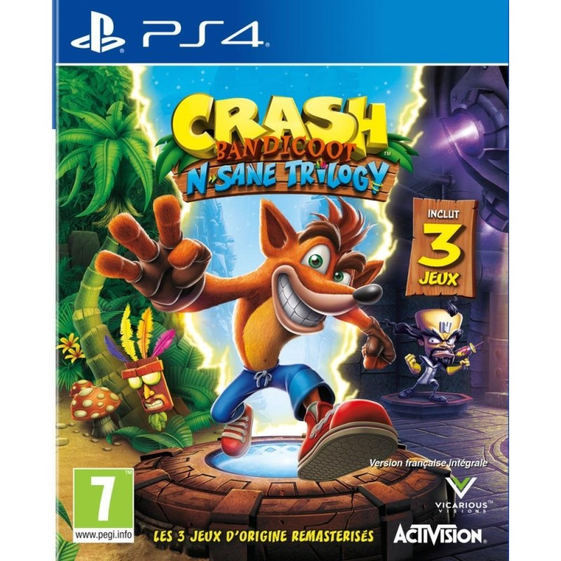PS4 CRASH BANDICOOT N SANE TRILOGY - Jeux PS4 au prix de 29,95€
