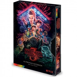 NOTEBOOK STRANGER THINGS VHS A5 PREMIUM - Papeterie au prix de 12,95 €