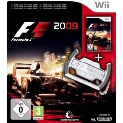 WII FORMULA ONE 2009 ET VOLANT - Jeux Wii au prix de 19,95€