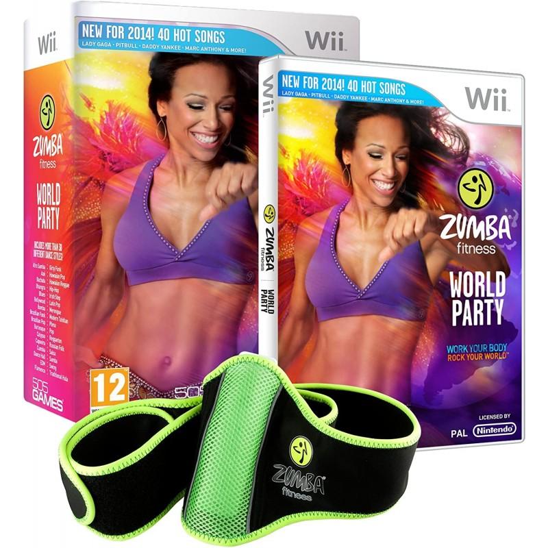 WII ZUMBA FITNESS WORLD PARTY ET CEINTURE - Jeux Wii au prix de 24,95€