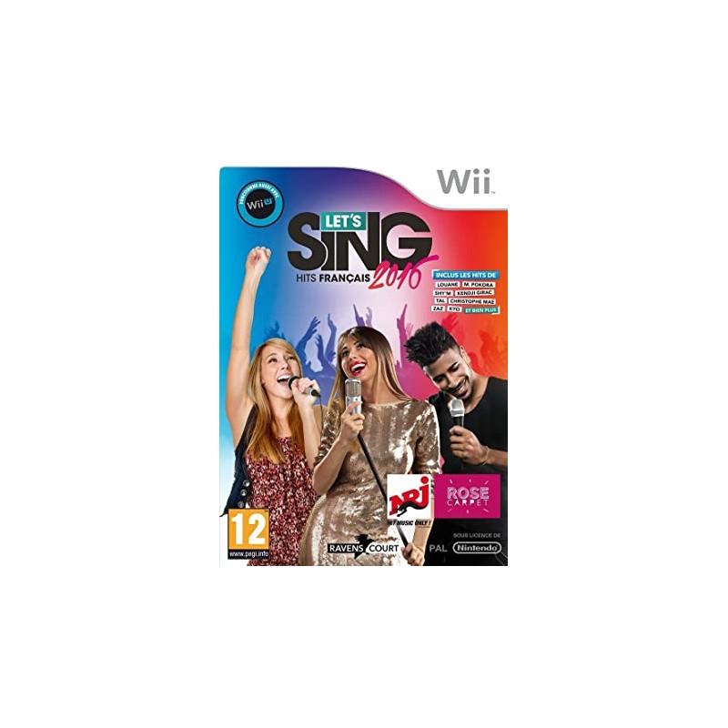 WII LET S SING 2016 HITS FRANCAIS ET 1 MICRO - Jeux Wii au prix de 14,95€
