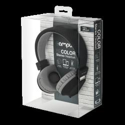 CASQUE AUDIO CAMPUS BICOLORE NOIR GRIS - Ecouteurs Téléphones au prix de 14,95€