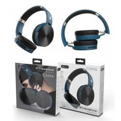 CASQUE BLUETOOTH BASIC LEPUX PLIABLE NOIR ET BLEU - Ecouteurs Téléphones au prix de 19,95€