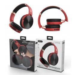 CASQUE BLUETOOTH BASIC LEPUX PLIABLE NOIR ET ROUGE - Ecouteurs Téléphones au prix de 19,95€