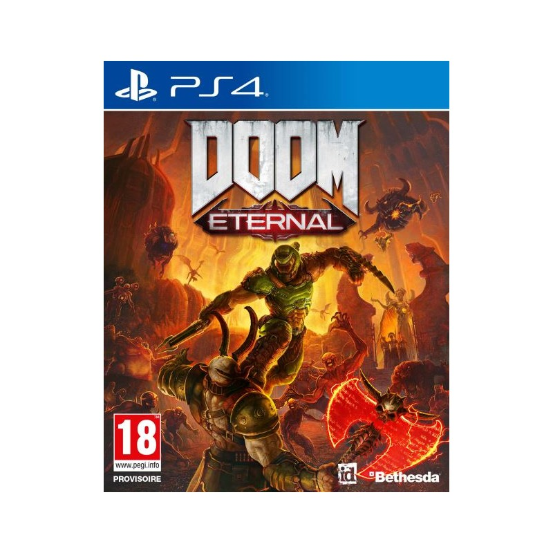 PS4 DOOM ETERNAL OCC - Jeux PS4 au prix de 14,95€