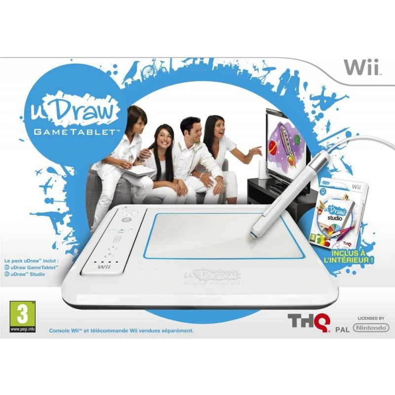 WII TABLETTE UDRAW AVEC 2 JEUX - Jeux Wii au prix de 9,95€