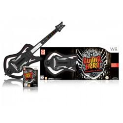 WII GUITAR HERO WARRIORS OF ROCK ET GUITARE - Jeux Wii au prix de 49,95€