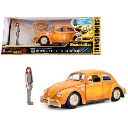 REPLIQUE TRANSFORMERS BUMBLEBEE VOSSWAGEN BEETLE 124 - Figurines au prix de 29,95€