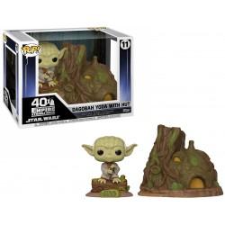 POP STAR WARS 11 YODA WITH HUT - Figurines POP au prix de 39,95€