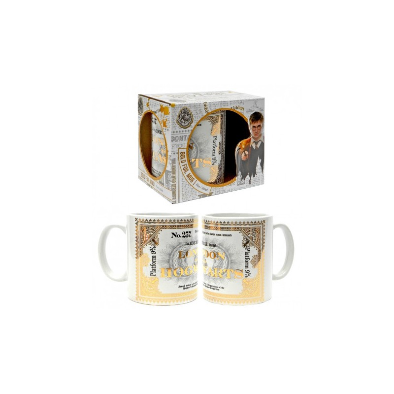 MUG HARRY POTTER HOGWARTS EXPRESS TICKET 315 ML - Mugs au prix de 9,95€