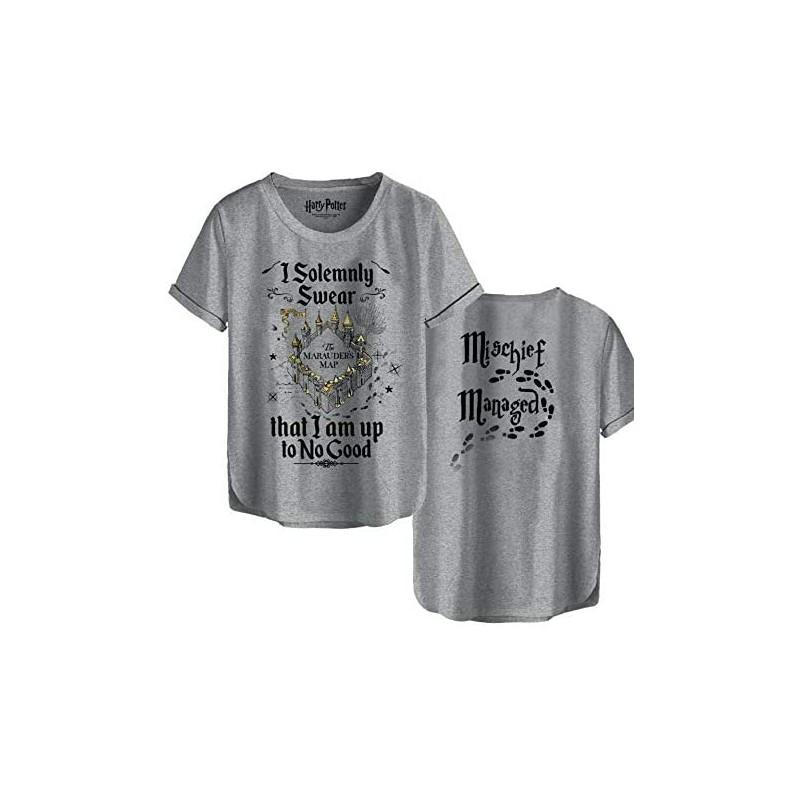 TSHIRT HARRY POTTER I SOLEMNLY SWEAR TAILLE S - Textile au prix de 19,95€