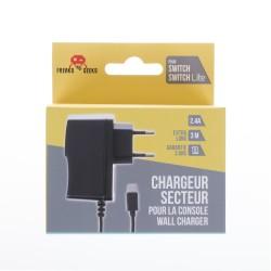 CHARGEUR SECTEUR SWITCH 2.4 A FREAKS AND GEEKS - Accessoires Switch au prix de 9,95€