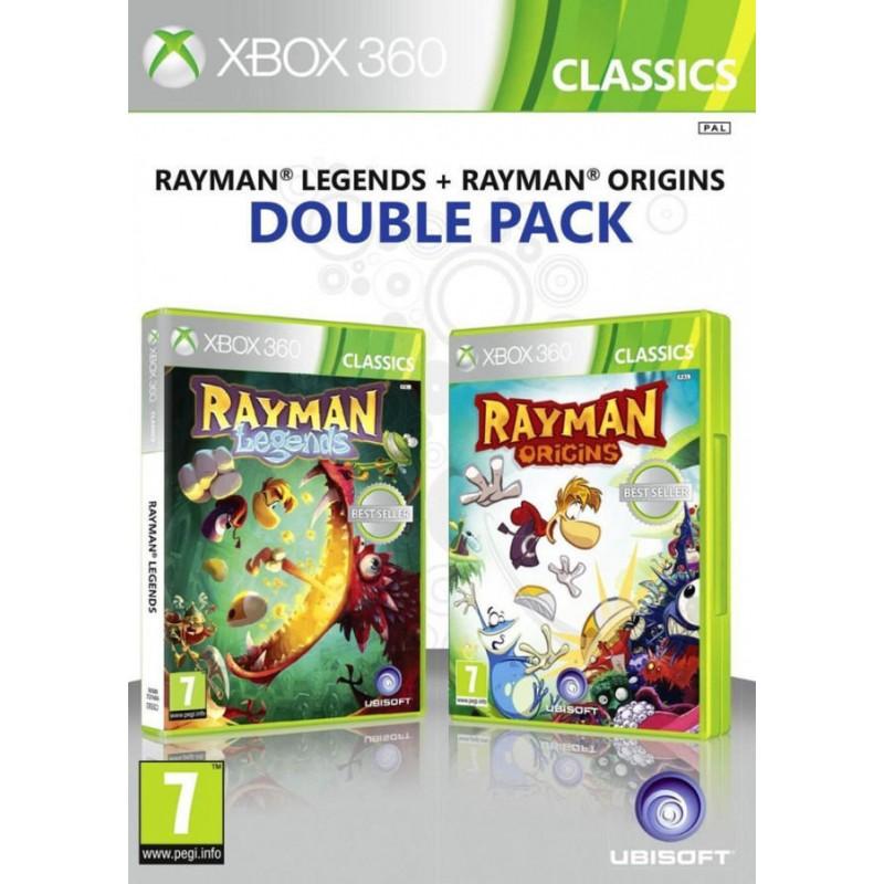 X360 RAYMAN LEGENDS + RAYMAN ORIGINS - Jeux Xbox 360 au prix de 14,95€