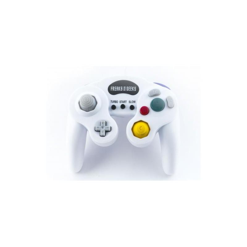 MANETTE GAMECUBE BLANCHE FREAKS AND GEEKS - Accessoires GameCube au prix de 12,95€