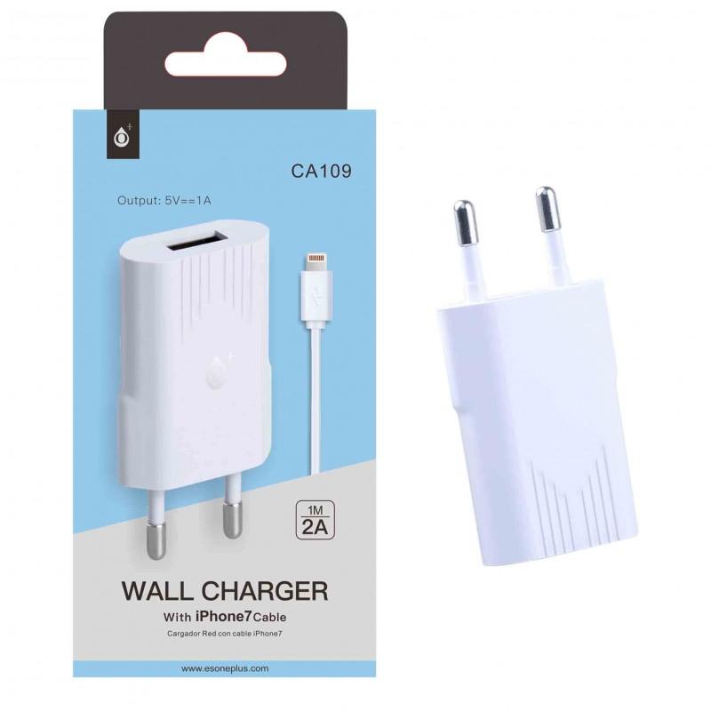 ADAPTEUR SECTEUR USB 1A IPHONE BLANC - Connectique Multimédia au prix de 9,95€
