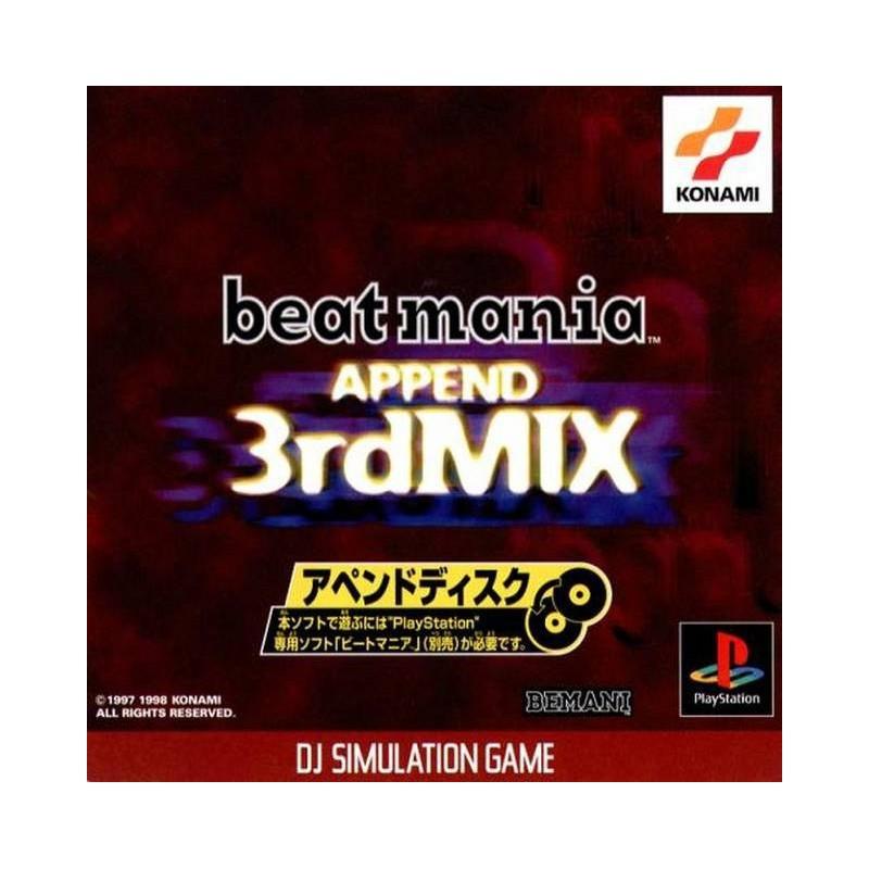 PSX BEATMANIA APPEND 3RD MIX (IMPORT JAP) - Jeux PS1 au prix de 4,95€