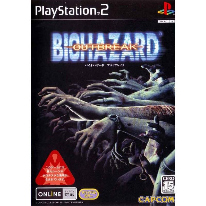 PS2 RESIDENT EVIL OUTBREAK (IMPORT JAP) - Jeux PS2 au prix de 19,95€