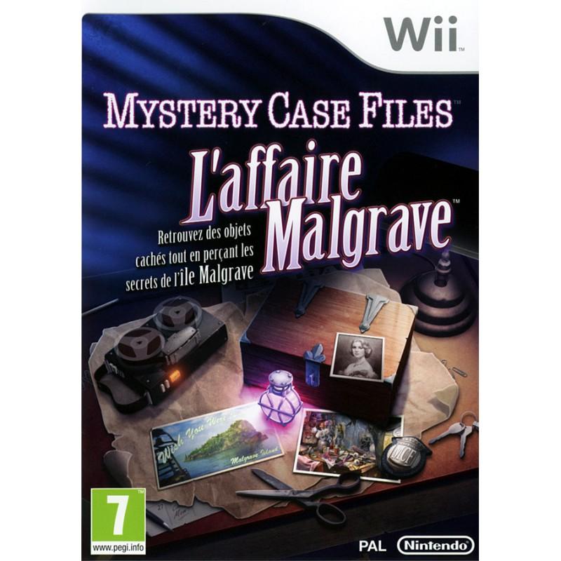 WII MYSTERY CASE FILES : THE MALGRAVE INCIDENT - Jeux Wii au prix de 4,95€