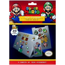 STICKERS MARIO 5 PLANCHES (39 STICKERS) - Autres Goodies au prix de 7,95 €
