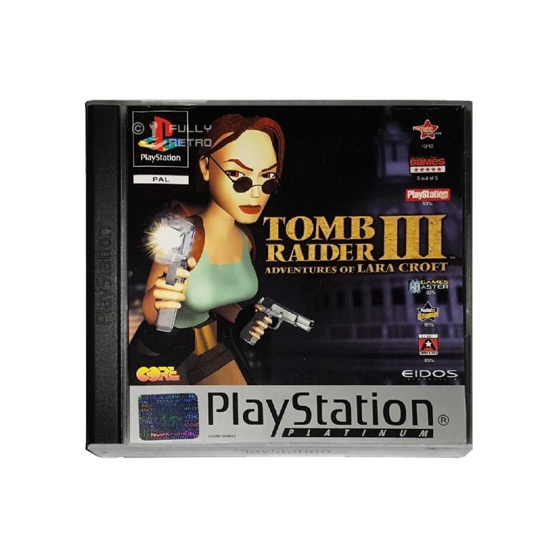 PSX TOMB RAIDER 3 LES AVENTURES DE LARA CROFT (PLATINUM) - Jeux PS1 au prix de 7,95€