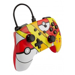 MANETTE FILAIRE SWITCH POKEMON PIKACHU POP ART - Accessoires Switch au prix de 29,95 €