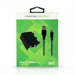 BATTERIE XBOX ONE AVEC CABLE DE CHARGE 3M UNDERCONTROL - Accessoires Xbox One au prix de 14,95€