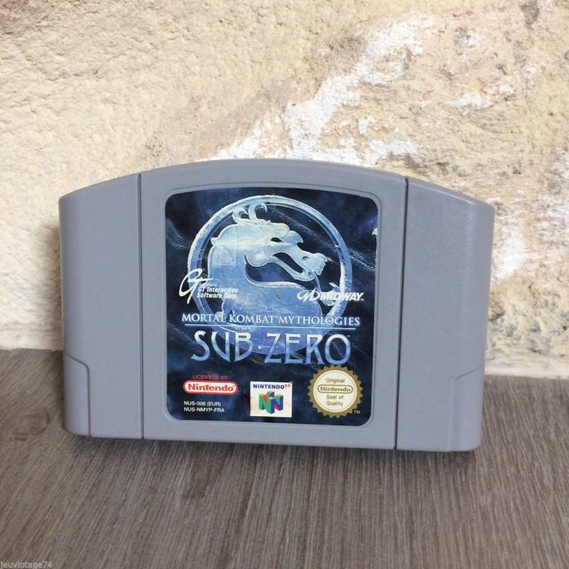 N64 MORTAL KOMBAT MYTHOLOGIES SUB ZERO (LOOSE) - Jeux Nintendo 64 au prix de 19,95€