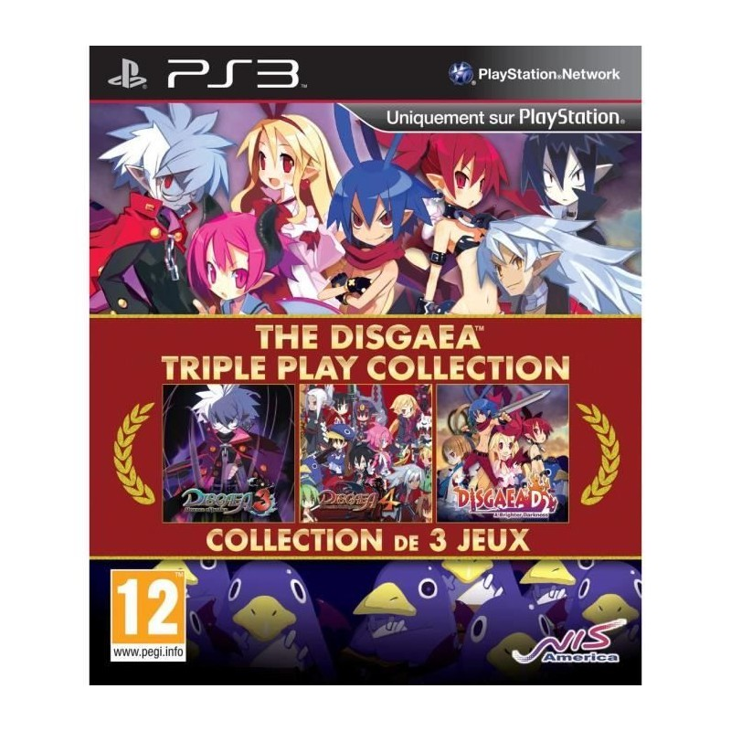 PS3 DISGAEA TRIPLE PLAY COLLECTION - Jeux PS3 au prix de 29,95 €